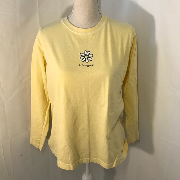 af29b4d5775 Life Is Good Tops - Life is good yellow daisy long sleeve top